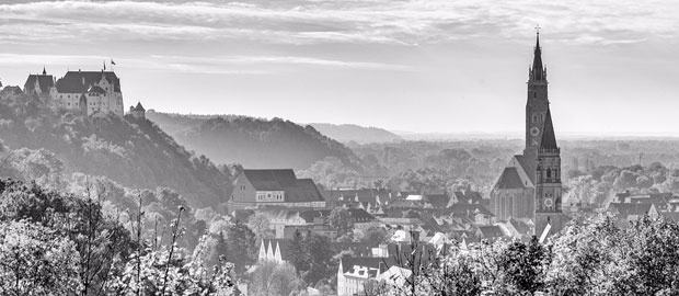 Stadtbild von Landshut